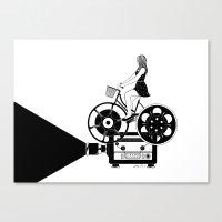 cinema Canvas Prints featuring Cinema Paradiso by Henn Kim