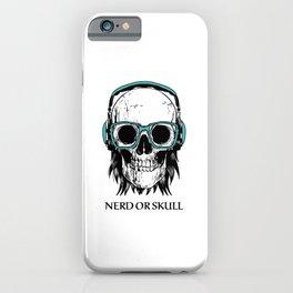 Bone Skull Nerd Iroquois Fan Rock Vintage Design iPhone Case