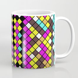 Mosaic X - Abstract, tiled, mosaic, geometric pattern Coffee Mug