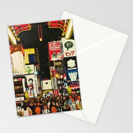 The Summer Crowds in Minami Stationery Cards