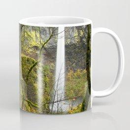 USA Elowah Falls Oregon Nature Autumn Waterfalls forest Trunk tree Forests Coffee Mug