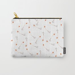Multi Colored Arrows in White Carry-All Pouch