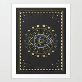 The Third Eye or The Sixth Chakra Art Print