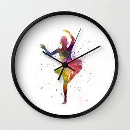 Little girl ballerina ballet dancer dancing Wall Clock