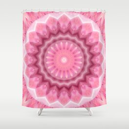 Mandala pink and white no. 2 Shower Curtain