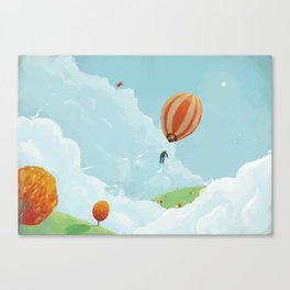 Airborne Janitor Canvas Print