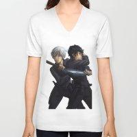 jem V-neck T-shirts featuring Parabatai - Jem&Will by taratjah