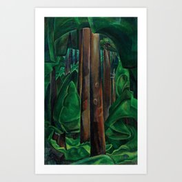 Emily Carr - Inside a Forest II - Canada, Canadian Oil Painting - Group of Seven Art Print