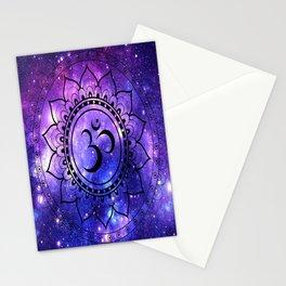 Om Mandala: Purple Blue Galaxy Stationery Cards