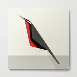 Loica chilena / Long-tailed meadowlark Metal Print