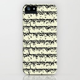Hebrew on Parchment iPhone Case