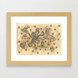 Silly Octopus Framed Art Print