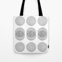 circles Tote Bags featuring Circles by Catrin Eluned