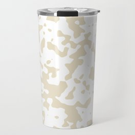 Spots - White and Pearl Brown Travel Mug