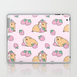Pink Strawberries and Guinea pig pattern Laptop & iPad Skin