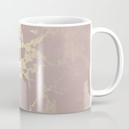 Kintsugi Ceramic Gold on Clay Pink Coffee Mug