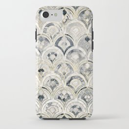 Monochrome Art Deco Marble Tiles iPhone Case
