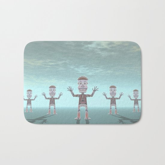 Characters Made of Stone Bath Mat