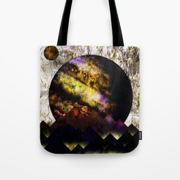 The mountains and the planet Tote Bag