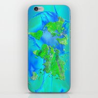 map of the world iPhone & iPod Skins featuring World Map by Roger Wedegis