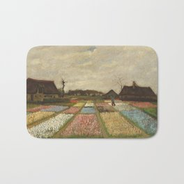 """Vincent van Gogh """"Bulb Fields, also known as Flower Beds in Holland"""" Bath Mat"""