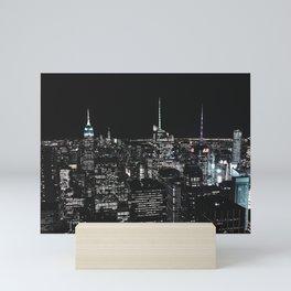 New York at Night - Photography Mini Art Print