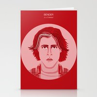 breakfast club Stationery Cards featuring The Breakfast Club - Bender by Priscila Floriano