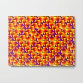 Fire Maze Metal Print