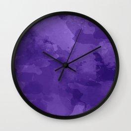 amethyst watercolor abstract Wall Clock