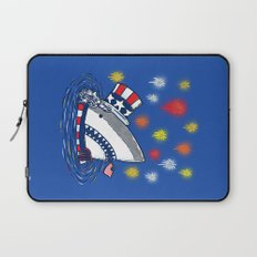 The Patriotic Shark Laptop Sleeve