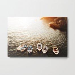 Boats of Cinque Terre Metal Print