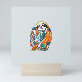 Nordic Sloth Watercolor Mini Art Print