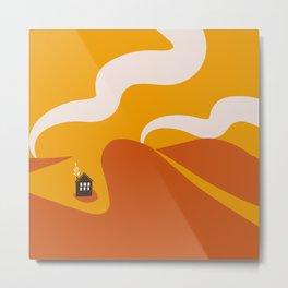 Tiny House Sunset Metal Print