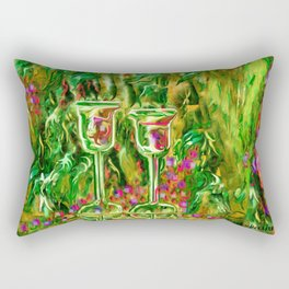Wine glass with grapes,ladykashmir Rectangular Pillow