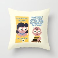 psychology Throw Pillows featuring Muted Affection by David Olenick