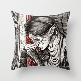 Questioning beliefs Throw Pillow