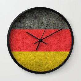 Flag of Germany in distressed grunge Wall Clock