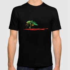 Mad fly Black MEDIUM Mens Fitted Tee
