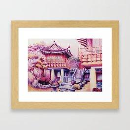 Teahouse Framed Art Print
