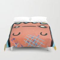 kit king Duvet Covers featuring KIT STUFF by Dave Carender