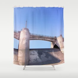 Sepulveda Dam Shower Curtain