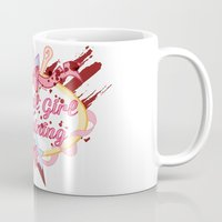magical girl Mugs featuring Magical Girl In Training by CassidyStone