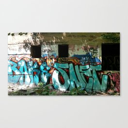 Outside Graffiti Canvas Print