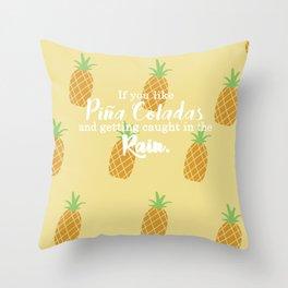 Piña Colada Song Throw Pillow