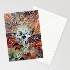 Bubble skull -oil Stationery Cards