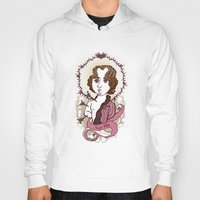 oscar wilde Hoodies featuring Oscar Wilde Holy Writer by roberto lanznaster