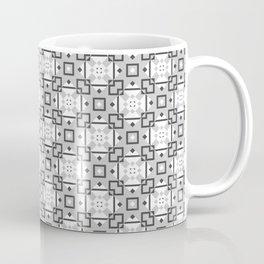 Geometric Tiles Grey Coffee Mug