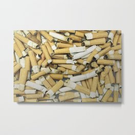 Cigarette butts dirty Metal Print