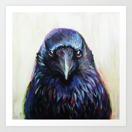 Crow Portrait Art Print