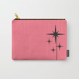 Atomic Age 1950s Starburst Cluster in Black and Midcentury Modern Hot Pink Carry-All Pouch
